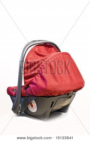 Red safety car seat for children