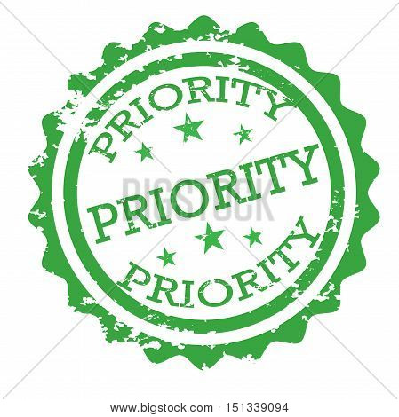 Priority stamp vector isolated on white background
