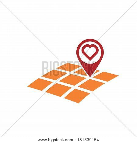 map geo gps location with heart symbol love concept abstract vector illustration