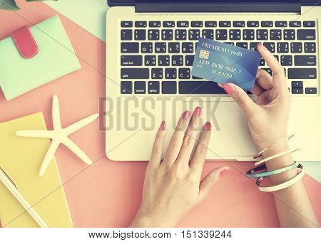 Credit Card Online Shopping Spending Payment Concept