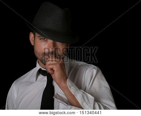 very nice emotional Portrait of a Handsome Italian man