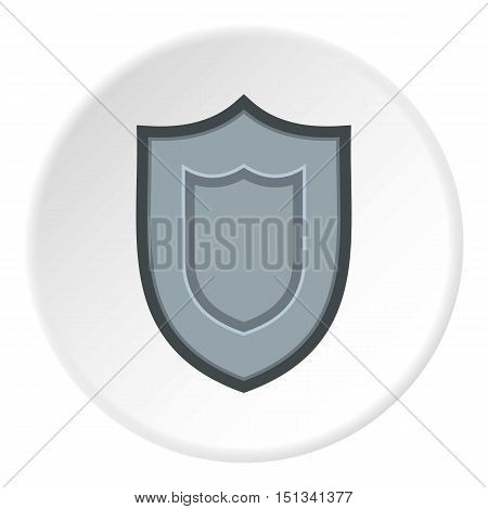 Combat shield icon. Flat illustration of shield vector icon for web design