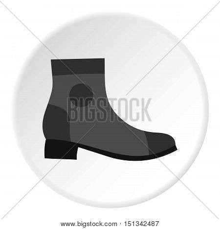 Grey boot icon. Flat illustration of shoe vector icon for web design