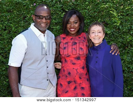 LOS ANGELES - SEP 25:  Viola Davis, Julius Tennon and Gail Abarbanel arrives to the The Rape Foundation Annual Brunch on September 25, 2016 in Hollywood, CA
