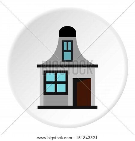 Small house icon. Flat illustration of small house vector icon for web