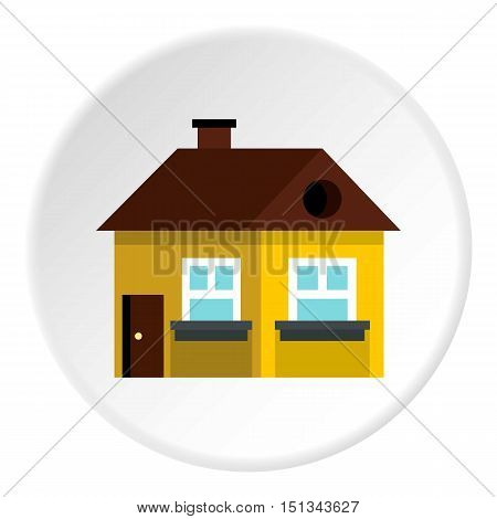 Large single storey house icon. Flat illustration of large single storey house vector icon for web