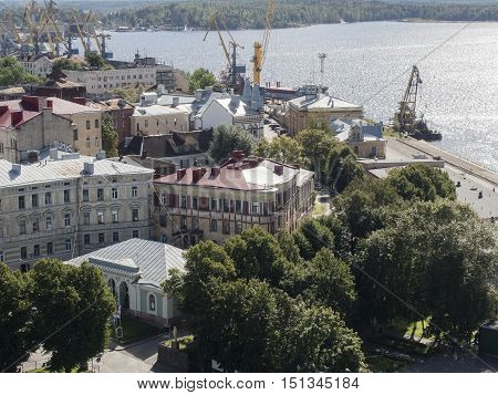 Views of the Gulf of Finland and Vyborg port