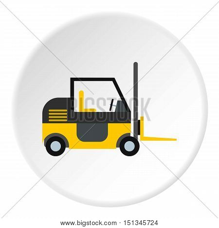 Forklift icon. Flat illustration of forklift vector icon for web
