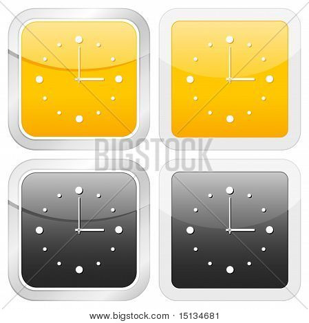 Square Icon Clock