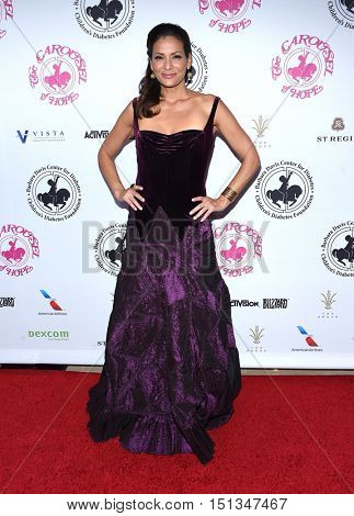 LOS ANGELES - OCT 8:  Constance Marie arrives to the Carousel of Hope 2016 on October 8, 2016 in Hollywood, CA
