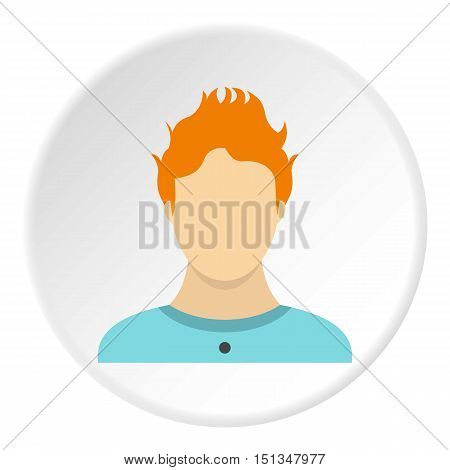 Male avatar icon. Flat illustration of male avatar vector icon for web