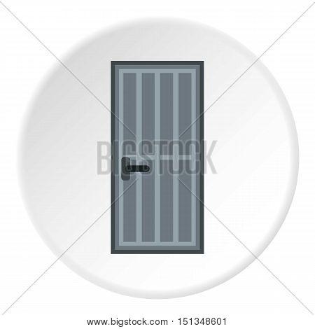 Lattice door icon. Flat illustration of lattice door vector icon for web