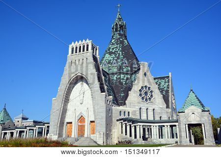 TROIS RIVIERES QUEBEC CANADA 10 06 16: The Basilica of Notre-Dame-du-Cap is a basilica an important Catholic sanctuary which receives thousands of pilgrims each year was inaugurated IN 1964.