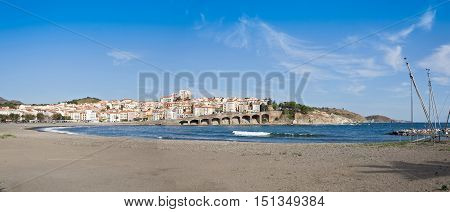Panorama of the french commune Banyuls - sur - Mer