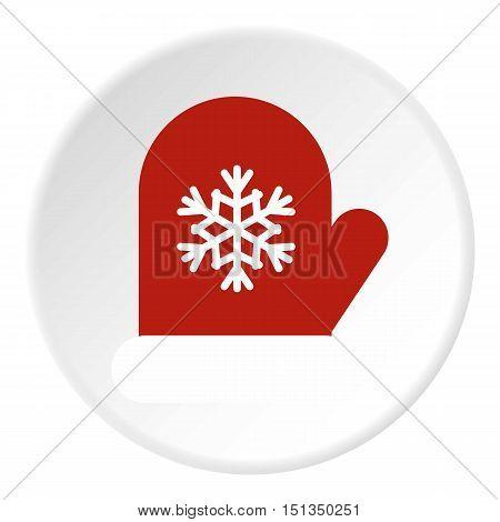 Winter mitten icon. Flat illustration of winter mitten vector icon for web