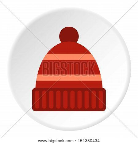 Winter hat icon. Flat illustration of winter hat vector icon for web