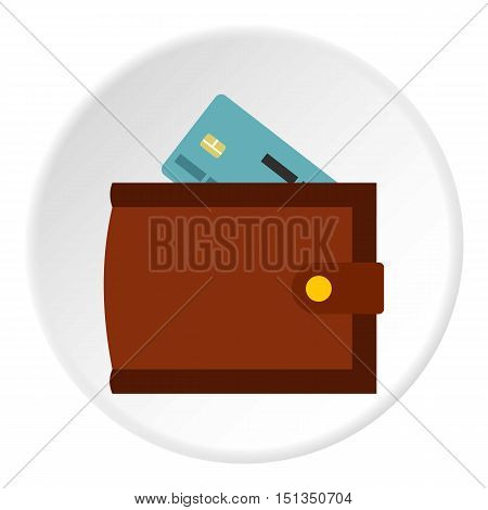 Wallet card icon. Flat illustration of wallet card vector icon for web