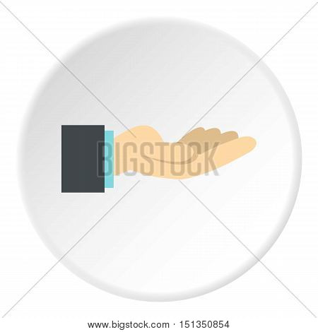 Gesture of charity icon. Flat illustration of gesture of charity vector icon for web