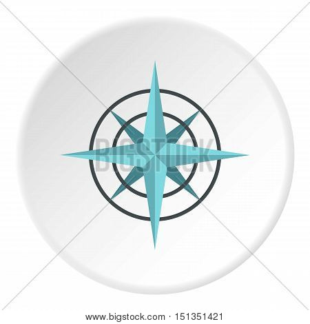 Sign of compass icon. Flat illustration of sign of compass vector icon for web
