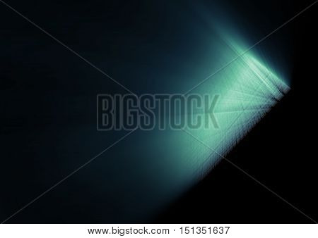Abstract glowing blue lines in perspective. Template design