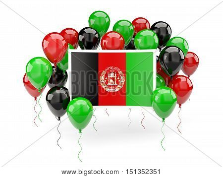 Flag Of Afghanistan With Balloons