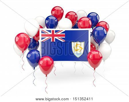 Flag Of Anguilla With Balloons