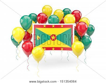 Flag Of Grenada With Balloons