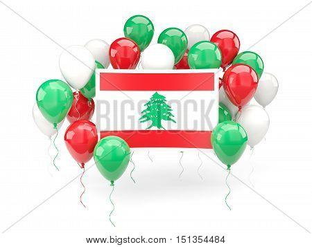Flag Of Lebanon With Balloons