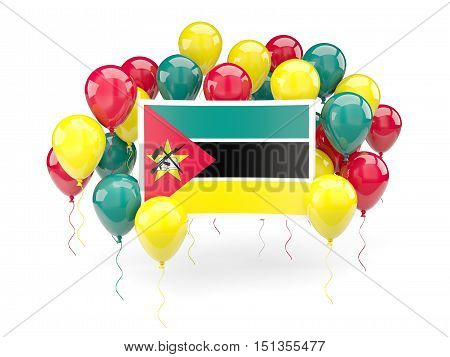 Flag Of Mozambique With Balloons