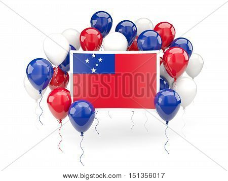 Flag Of Samoa With Balloons