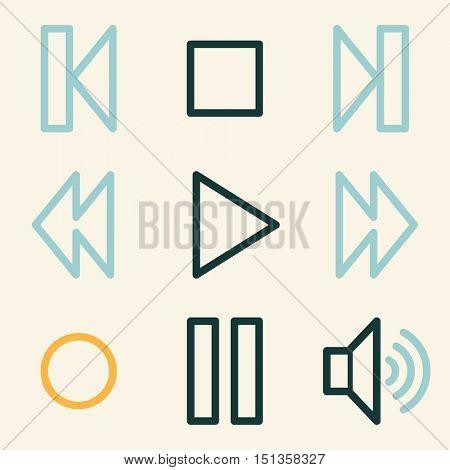 Media player web icons