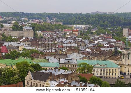 The historical centre of the city of Lviv. Western Ukraine