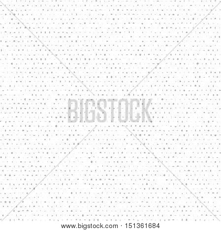 Seamless vector background with gray random elements. Tileable ornament. Dotted abstract background