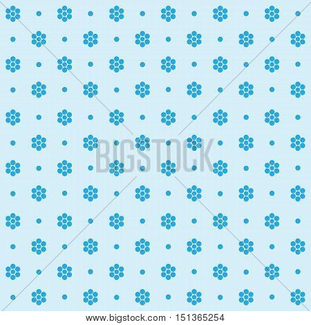 Floral pattern. Seamless vector illustration. Swatch inside