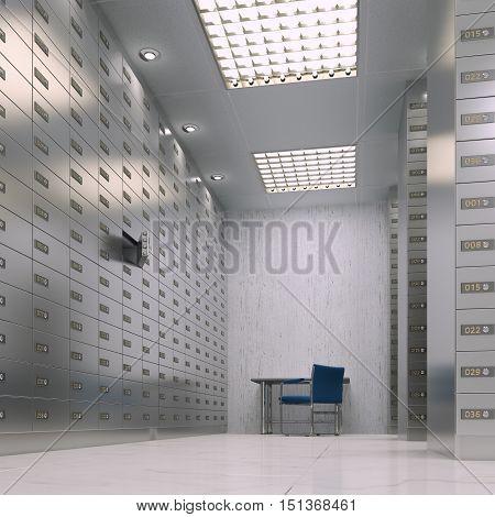 3D Rendering Safe Deposit Boxes