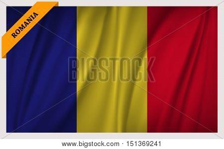 National flag of Romania - waving edition