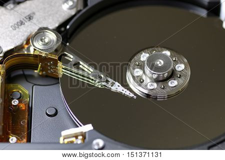 hard disc drive repair macro texture part