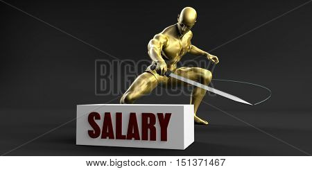 Reduce Salary and Minimize Business Concept 3D Illustration