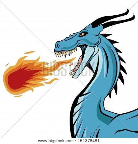 Dragon cartoon icon. Chinese asian fantasy and animal theme. Colorful design. Vector illustration