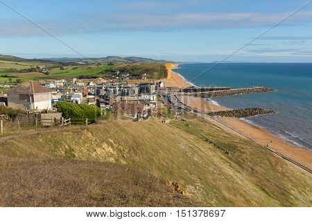 West Bay Dorset Jurassic coast in uk summer
