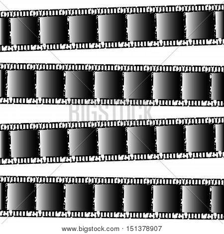 Background of photographic films. Retro film. Vector illustration