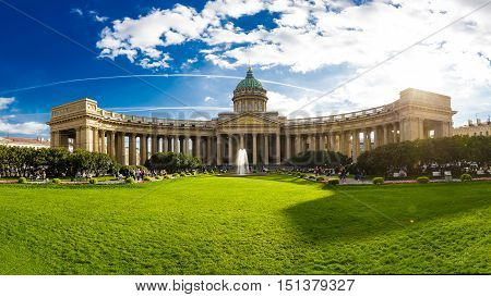 Cathedral of Our Lady of Kazan 14 September 2016 Saint-Petersburg Russia