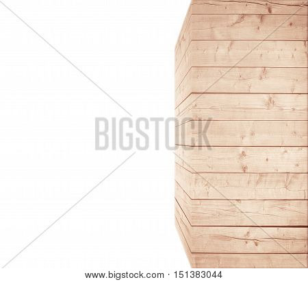 Light brown scratched wooden wall or rectangular big box. Wood texture. Space for text.