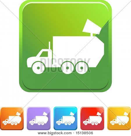 Truck web button isolated on a background.