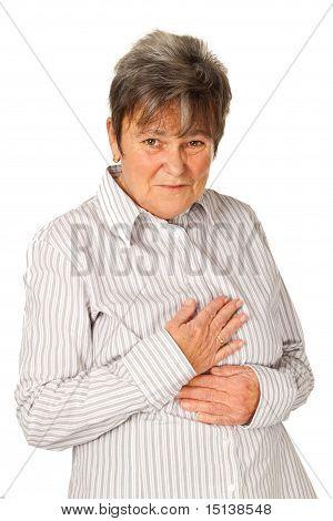 Senior Woman Feeling Unwell