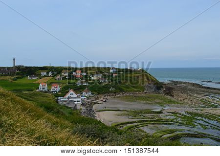 View from a trail at Nord France coast