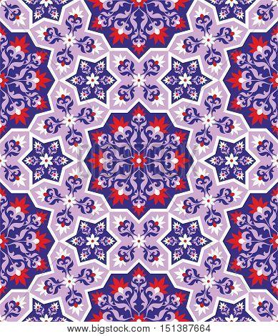Arabesque. Pattern in Moorish style. Arab seamless texture. Element of design. Islamic  background. Oriental ornament