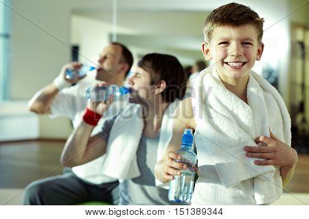 Little man in gym