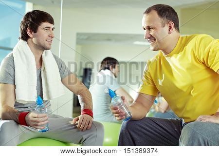 Friends at gym