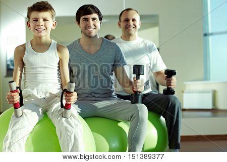Three sound men